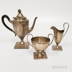 Mathews & Prior Three-piece Sterling Silver Tea Set
