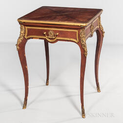 Paul Sormani Louis XV-style Kingwood-veneered Table a Jeu