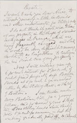 Blackwell, Elizabeth (1821-1910) Autograph Letter Unsigned and Undated.