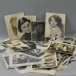 Group of Autographed Movie Star Photos