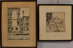 Ernest David Roth (American, 1879-1964)      Two Etchings:   Stones of Venice