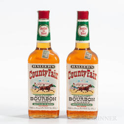Hallers County Fair 4 Years Old 1961, 2 4/5 quart bottles