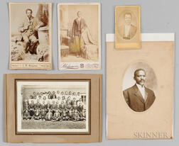 Five Photographs and Cabinet Cards Depicting African Americans.