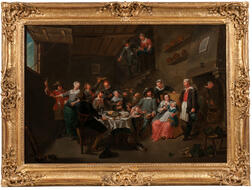 Dutch School, 19th Century      Family and Servants Gathered in a Tavern