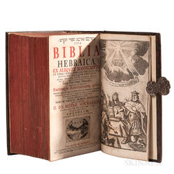 Bible, Hebrew. Biblia Hebraica  , edited by Johann Heinrich Michaelis (1668-1738)