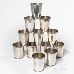 Twelve Frank Whiting & Co. Sterling Silver Julep Cups