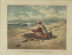 Currier & Ives, publishers (American, 1857-1907)    Beach Snipe Shooting.