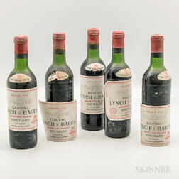 Chateau Lynch Bages 1966, 5 demi bottles