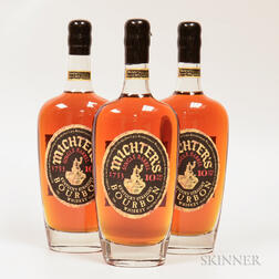 Michters Single Barrel Bourbon 10 Years Old, 3 750ml bottles