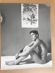 Attributed to George Platt Lynes (American, 1907-1955)      Fourteen Photographs of Men (Both Nude and Clothed)