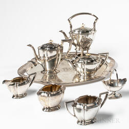 Seven-piece Watson Sterling Silver Tea and Coffee Service
