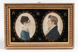 Pair of Profile Portrait Miniatures, Possibly Charles and Susan Hastings