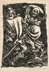 Ernst Barlach (German, 1870-1938)      Two Images from WALPURGISNACHT