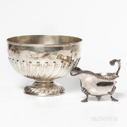 Two Pieces of English Sterling Silver Tableware