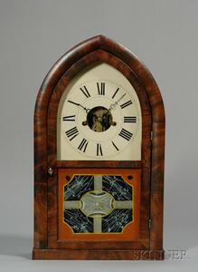 Oversized Mahogany Beehive Shelf Clock by Smith & Brother
