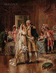 Edward Percy Moran (American, 1862-1935)      George Washington and Bride