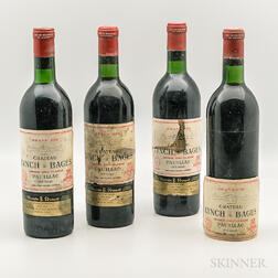 Chateau Lynch Bages 1970, 4 bottles