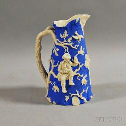 English Relief-decorated Pitcher