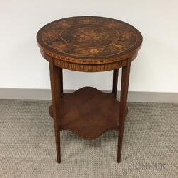 Neoclassical-style Marquetry Side Table