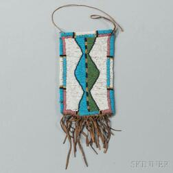 Northern Plains Beaded Hide Mirror Bag