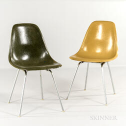 Two Ray and Charles Eames for Herman Miller Shell Chairs