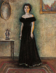 American School, 20th Century      Pastel Portrait of a Woman