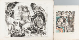 Lovis Corinth (German, 1858-1925)      Two Lithographs: Die Waffen des Mars (The Weapons of Mars)