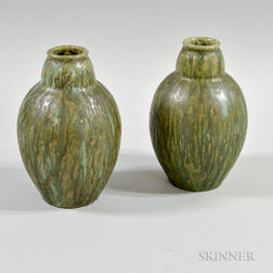 Two Arts and Crafts-style Pottery Vases