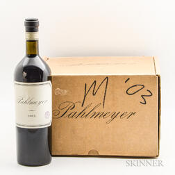 Pahlmeyer Merlot 2003, 5 bottles