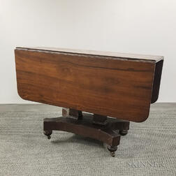 Late Classical Mahogany One-drawer Drop-leaf Table
