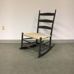 """Shaker """"No. 4"""" Tape-woven Maple Rocking Chair"""