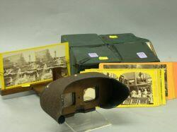 Stereopticon Viewer with Two Boxes of Viewer Cards