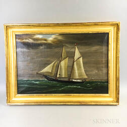 American School, 19th/20th Century       Portrait of the Schooner John George