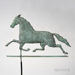 "Molded Copper ""Dexter"" Horse Weathervane"