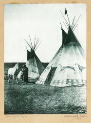 Edward Curtis Photograph   Blackfoot Tipis