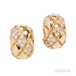 18kt Gold and Diamond Earrings, Van Cleef & Arpels