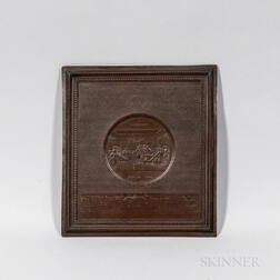 Unmounted Copper Samuel H. Black Declaration of Independence Plaque