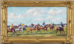 Edward Brodney (American, 1920-2002)      Polo Match: Offside, Forward Shot