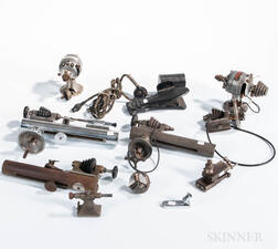 Collection of Watchmaker's Lathes and Lathe Accessories
