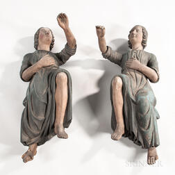 Pair of Polychrome Carved Figures