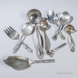 Nine Pieces of American Sterling Silver Flatware