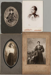 Eight Victorian Cabinet Cards Depicting African Americans