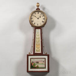"E. Currier Patent Timepiece or ""Banjo"" Clock"