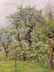 John Joseph Enneking (American, 1841-1916)      Apple Blossoms