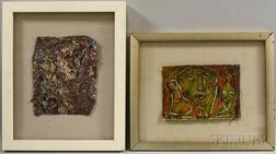 Four Framed Alexander Gore (Russian/American, b. 1958) Mixed Media Works.     Estimate $200-300