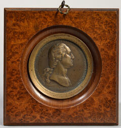 Washington before Boston  , Bronze Medal by Pierre Duvivier, 19th Century.
