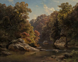 Paul Gottlieb Weber (German/American, 1823-1916)      Autumn Landscape