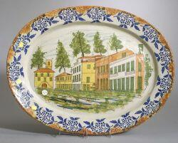 Large French Faience Platter