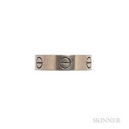 "18kt White Gold ""Love"" Ring, Cartier"