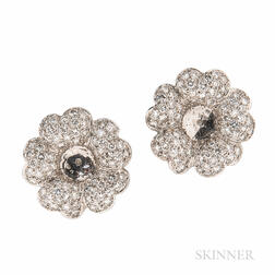 18kt White Gold and Diamond Earring Jackets